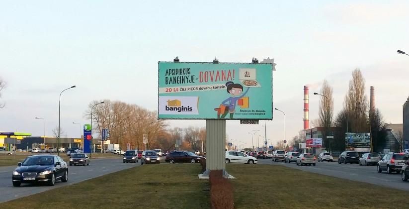 Reklaminiai stendai. Reklaminis stendas Nr.3 (šiaurinė p.). Lauko reklama Klaipėdoje.