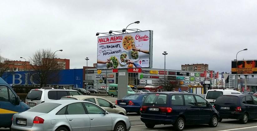 Reklaminiai stendai. Reklaminis stendas 6x3m. Lauko reklama Klaipėdos m.