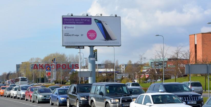 Reklaminiai stendai. Reklaminis stendas Nr.1 (pietinė p.). Lauko reklama Klaipėdoje.