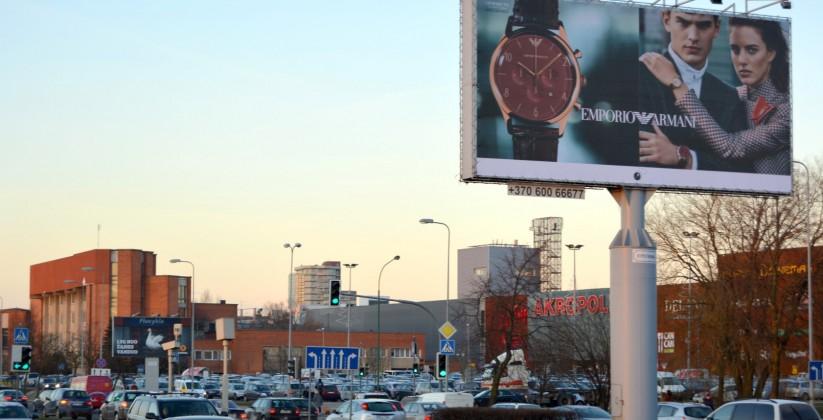 Reklaminiai stendai. Reklaminis stendas Nr.2 (pietinė p.). Lauko reklama Klaipėdoje.